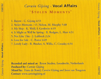Vocal Affairs - stolen moments